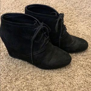 Black wedge bootie from JCPenny's